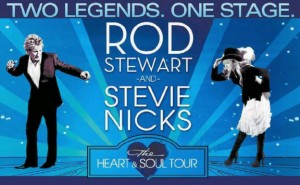 "Rod Stewart & Stevie Nicks ""The Heart & Soul Tour"" Heads to Orlando, FL on on August 3rd, 2012"
