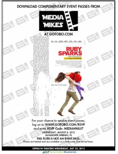 "Complimentary Passes to the Orlando, FL Screening for ""Ruby Sparks"" [ENDED]"