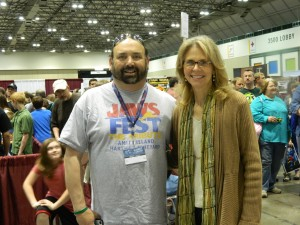 "A 70s dream come true: One of the ""Mikes"" and Lindsay Wagner"