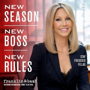 "Heather Locklear talks about joining Season 3 of ""Franklin & Bash"""