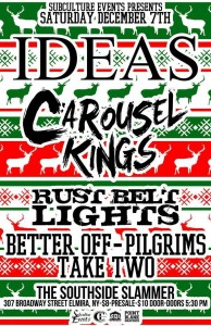 Concert Review: Carousel Kings, Better Off, Rust Belt Lights, Ideas, Pilgrims, Take Two – Elmira, NY