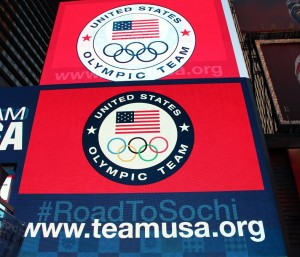 2014 Olympics' Road to Sochi hits Times Square in NYC