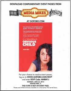 "Free Passes for an Advance Orlando FL Screening of ""Obvious Child"" [ENDED]"