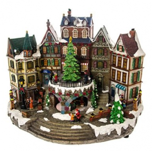 "Product Review ""Cracker Barrel: LED Village with Animated Tree"""