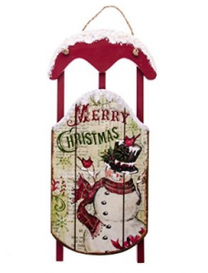 "Product Review ""Cracker Barrel: Snowman Wood Sleigh Wall"""