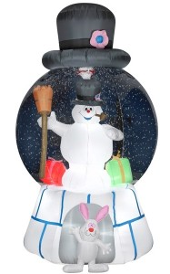 "Product Review ""Gemmy Airblown Frosty the Snowman Snow Globe"""
