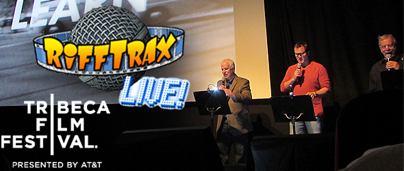 "RiffTrax Live! discuss ""The Room"" on the Tribeca Red Carpet"