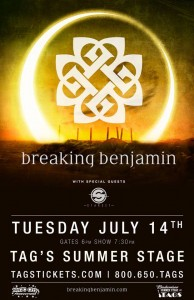 "Concert Review: Breaking Benjamin ""Dark Before Dawn Tour""  Big Flats, NY"