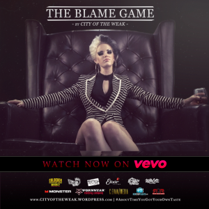 "Latest Video for ""The Blame Game"" from City of the Weak"