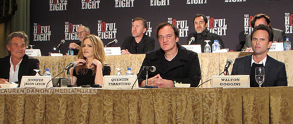 """A """"Hateful"""" Conference with Quentin Tarantino, Kurt Russell, Jennifer Jason Leigh and More"""