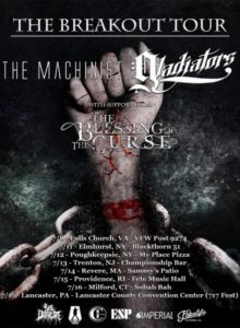 """The Breakout Tour"" Featuring The Machinist and Gladiators set to kick off July 8th"